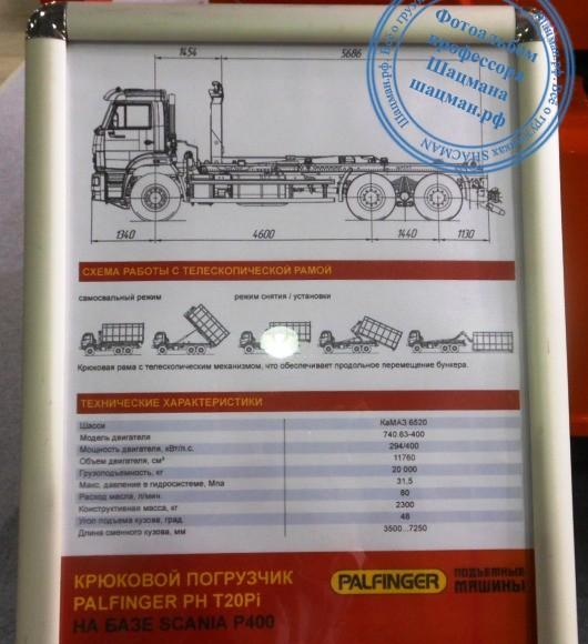Техническое описание мультилифта PALFINGER PH T20Pi на шасси КАМАЗ-6520