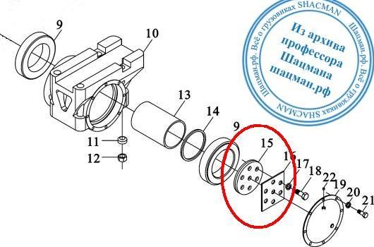 Конструкция балансирной оси SHACMAN DZ9114520215