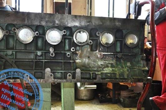 Подгонка блока цилиндров для установки ТНВД