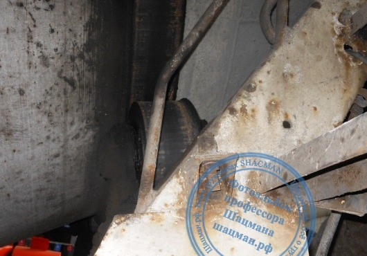 Ролик опорного кольца емкости бетоносмесителя