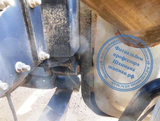 Глушитель мешает демонтировать переднюю рессору грузового автомобиля SHACMAN